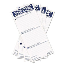 Safco® Suggestion Box Cards - 3-1/2 x 8 - White - 25 Cards/Pack