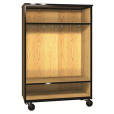Denali 1000 Series Tall Mobile Wardrobe Storage w/ 13 Double Hooks & 1 Adjustable Shelf