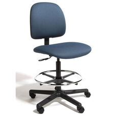 Centris Medium Back Mid-Height Drafting ESD Chair - 4 Way Control