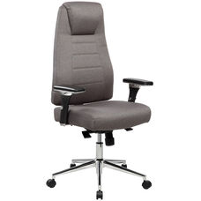 Techni Mobili Comfy Height Adjustable Home Office Chair with Wheels - Grey