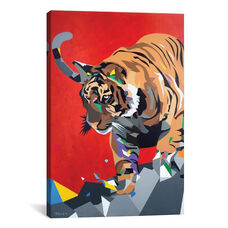 Geo Tiger by DAAS Gallery Wrapped Canvas Artwork