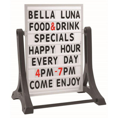 Our The Rocker Double Sided Sidewalk Sign with Changeable Letterboard is on sale now.