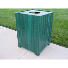 Standard Square 55 Gallon Recycled Plastic Receptacle