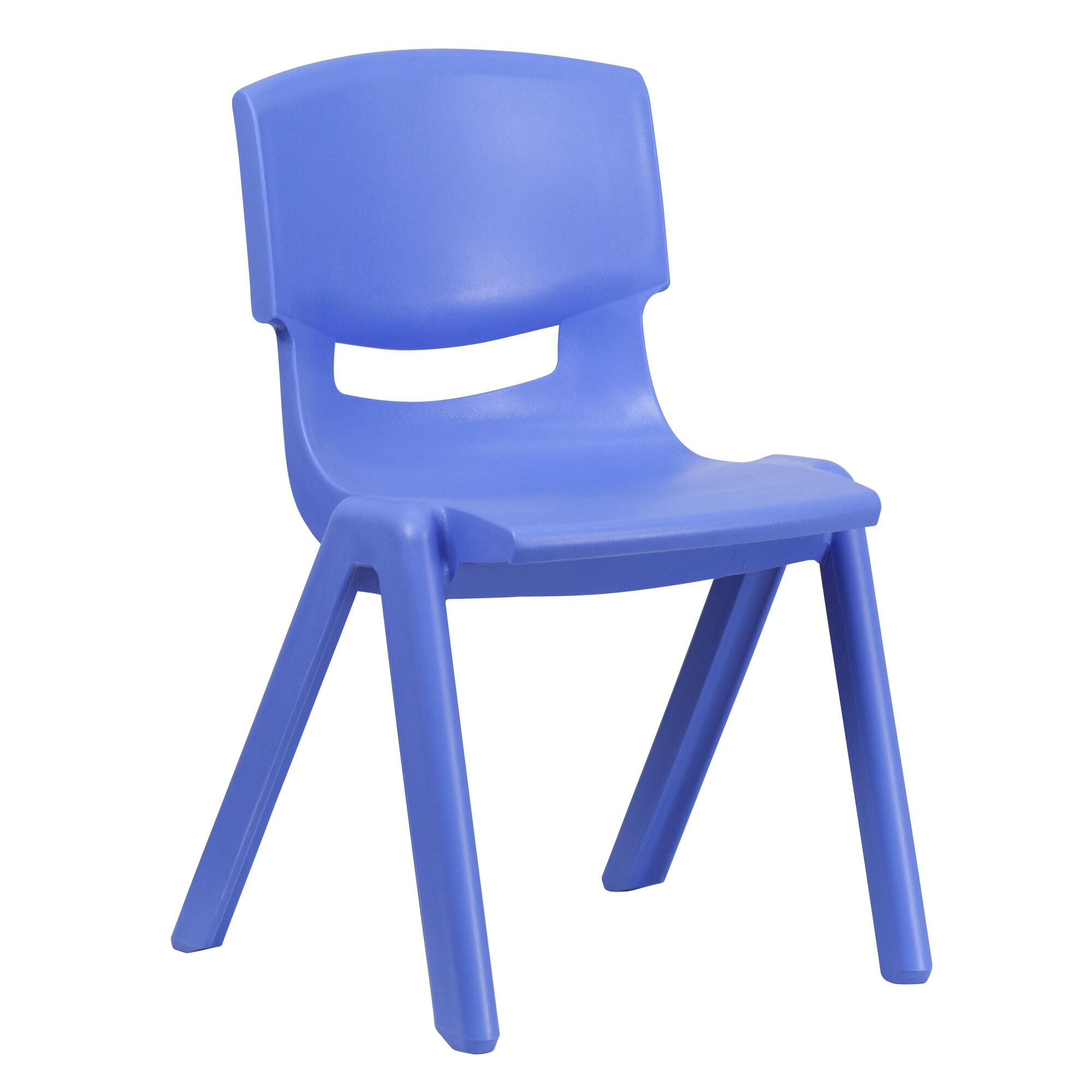 Our Blue Plastic Stackable School Chair With 15 5