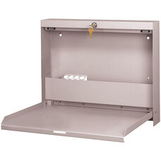 WallWrite Locking Fold-Up Desk - Light Gray