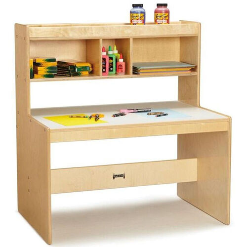 Our Wooden Dual Student Writing Desk with 21