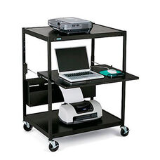 Mobile Notebook-Data Projector Cart with 6 Electrical Outlets - 32
