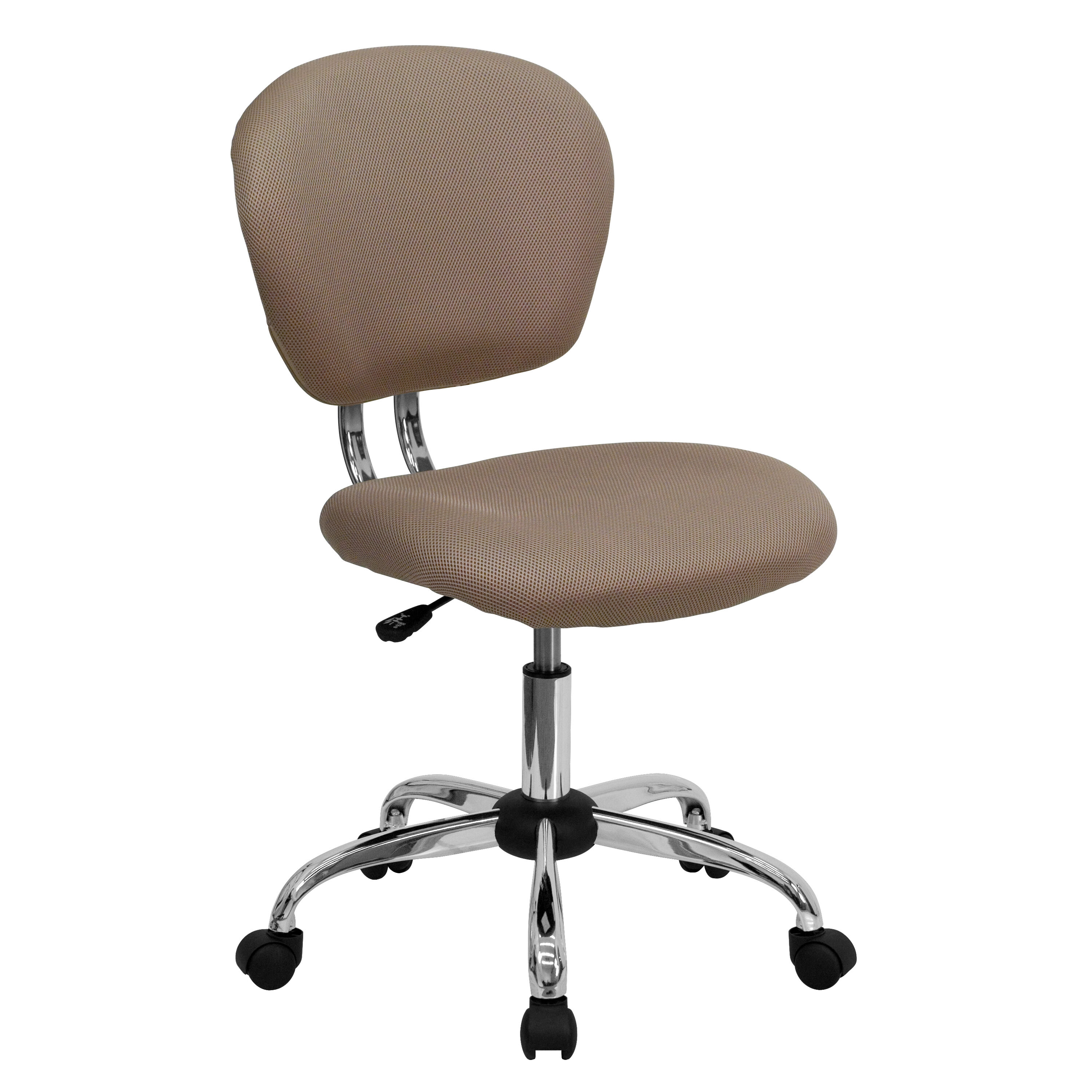 Superbe Our Mid Back Coffee Brown Mesh Swivel Task Chair With Chrome Base Is On Sale