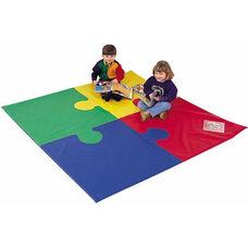 Multicolor Square Puzzle Mat - 72