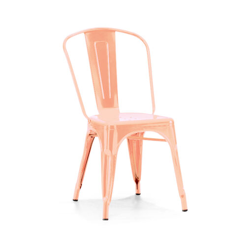 Our Dreux Light Rose Gold Stackable Steel Side Chair - Set of 4 is on sale now.
