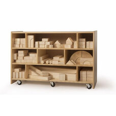 Set of 118 Intermediate Play Blocks with Smoothed Rounded Edges