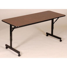 Adjustable Height Rectangular EconoLine Melamine Flip Top Table - 24''D x 48''W