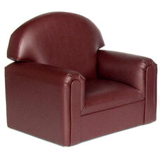 Just Like Home Toddler Size Overstuffed Vinyl Chair - Port Burgundy - 22