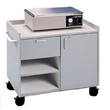 Mobile Cabinet for Splinting and Supplies - Folkstone Gray Laminate