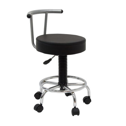 Our Futura Height Adjustable Studio Stool with Footring and 5 Casters - Black is on sale now.