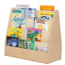 Mobile Double Sided Baltic Birch Plywood Book Display with Tuff-Gloss UV Finish - Assembled - 30