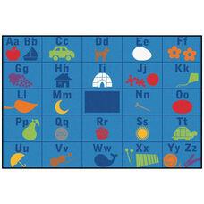 Kids Value Alphabet Seating Rectangular Nylon Rug - 96