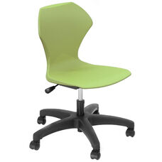 Apex Series Plastic Height Adjustable Task Chair with 5 Star Base - Apple Seat - 25