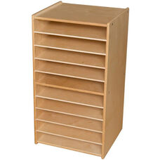 Contender Mobile Paper and Puzzle Storage Center - Assembled - 20