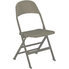 2000 Series All Steel Folding Chair with B Back Style in Bone White
