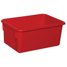 Solid Red Plastic Cubby Trays - Assembled - 8''W x 12''D x 5''H