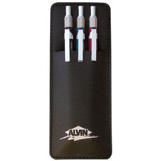 .3mm,  .5mm,  and .7mm Mechanical Pencils with Cushion Points and Built-In Eraser Under Cap - Set of 3