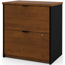 Innova Locking 2 Drawer Lateral File - Tuscany Brown and Black