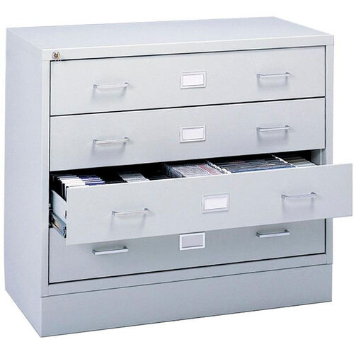 Our Audio and Video Microform Media Storage Cabinet with Label Holders - Light Gray is on sale now.