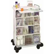 White Plastic Ultimate Supply Cart 25