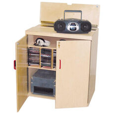 Lock-It-Up Audio Center with Lockable Storage Compartment and Pinch-Me-Not Safety Hinges - Assembled - 29