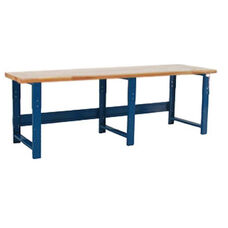 1.75'' Thick Solid Maple Top Work Table Production Bench - 36''D X 120''W - Height Adjustable