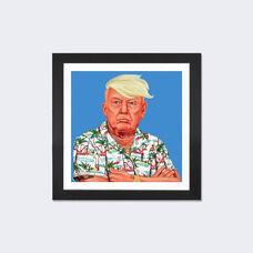 Donald Trump by Amit Shimoni Artwork on Fine Art Paper with Black Matte Hardwood Frame - 16