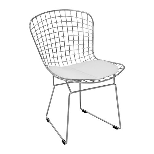 Our Chrome Wire Chair with White Seat Pad is on sale now.