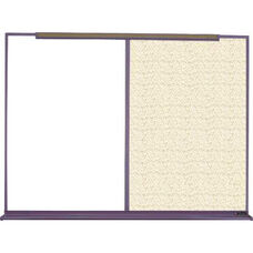 800 Series Aluminum Frame Combination Markerboard and Tackboard - Fabricork - 72