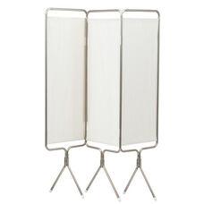 3 Panel Aluminum Folding Screen With Standard White Vinyl