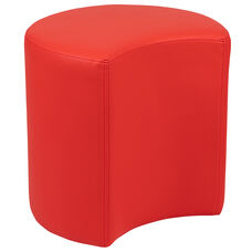 "Soft Seating Collaborative Moon for Classrooms and Common Spaces - 18"" Seat Height (Red)"