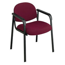 Work Smart Visitors Chair with Designer Shell Back and Armrests