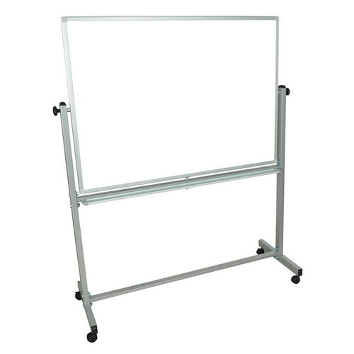 Our Doubled Sided Aluminum Frame Magnetic Mobile White Board with Marker Tray - 52