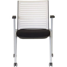 Ace Multi Purpose Nesting Chair - Black Seat and White Back