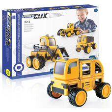 PowerClix® Construction Vehicle Set with Articulating Wheels and Axels