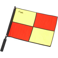 Official Red and Yellow Checkered Flag with Black Border