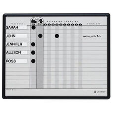 Quartet Magnetic In/Out Board - 15 Name Capacity - 24
