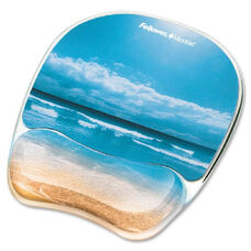 Fellowes Sandy Bch Image Gel Mouse Pad Wrist Rest