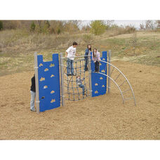 Rope and Arch Ladder Hercules Climber with Two Galvanized Steel Ladders and Two Polyethylene Climbing Walls - 204