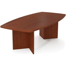 Boat Shaped Conference Table with 1.75