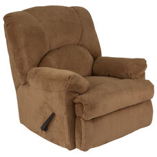 Contemporary Feel Good Camel Microfiber Rocker Recliner