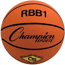 Pro Rubber Basketball Office Size 7 in Standard Orange