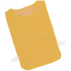 Adult Nylon Mesh Pinnie in Gold - Set of 12