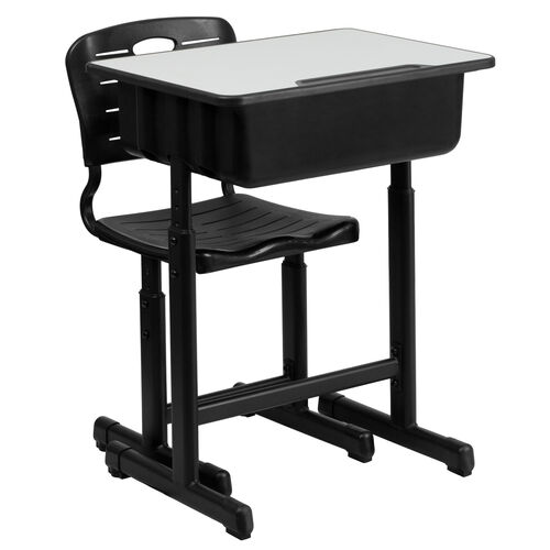 Our Adjustable Height Student Desk and Chair with Black Pedestal Frame is on sale now.