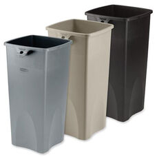 Rubbermaid Commercial Products Untouchable Plastic Waste Containers - 14.5